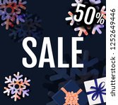 sale banner with snowflake with ... | Shutterstock .eps vector #1252649446