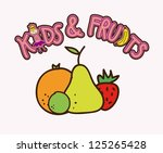 fruits drawing over white... | Shutterstock .eps vector #125265428