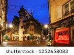 the colmar street decorated for ... | Shutterstock . vector #1252658083
