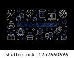 fund raising vector horizontal... | Shutterstock .eps vector #1252660696