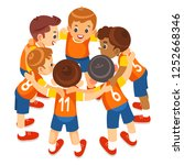 young boys sports team on...   Shutterstock .eps vector #1252668346