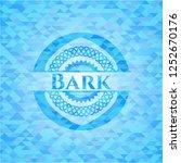 bark light blue mosaic emblem | Shutterstock .eps vector #1252670176