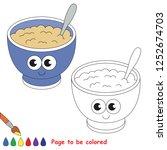 healthy food porridge plate... | Shutterstock .eps vector #1252674703