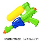 Water Gun Isolated On White...