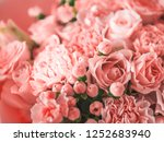 beautiful bouquet with roses ...   Shutterstock . vector #1252683940
