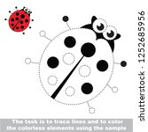 ladybird insect. dot to dot... | Shutterstock .eps vector #1252685956