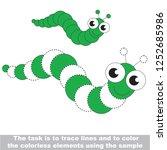 caterpillar insect. dot to dot... | Shutterstock .eps vector #1252685986