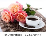 Flowers  Cup Of Coffee