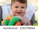 close portrait of baby boy... | Shutterstock . vector #1252708666