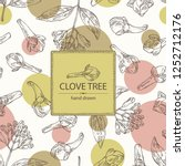 background with clove tree ...   Shutterstock .eps vector #1252712176