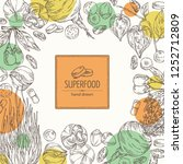 background with super food ... | Shutterstock .eps vector #1252712809
