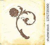 retro baroque decorations... | Shutterstock .eps vector #1252720300