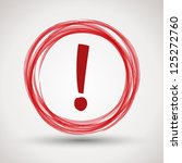 red attention symbol.... | Shutterstock .eps vector #125272760