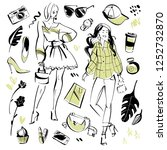 collection of modern fashion...   Shutterstock . vector #1252732870