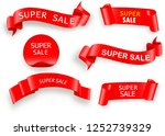 big sale banner.super sale... | Shutterstock .eps vector #1252739329