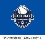baseball championship logo...   Shutterstock .eps vector #1252755946