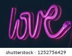 neon love sign | Shutterstock . vector #1252756429