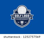 golf championship logo template | Shutterstock .eps vector #1252757569