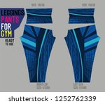 leggings pants for gym | Shutterstock .eps vector #1252762339