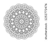 mandala with hand drawn ... | Shutterstock . vector #1252772476