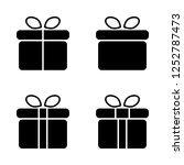 gift vector icon set