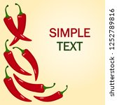 red hot chili pepper. frame for ...   Shutterstock .eps vector #1252789816