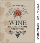 vintage label for wine bottles... | Shutterstock .eps vector #1252799866