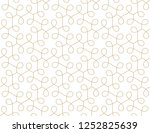 seamless linear pattern with... | Shutterstock .eps vector #1252825639