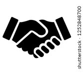 shake hands friendship of... | Shutterstock .eps vector #1252848700