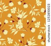 vintage flower illustration  | Shutterstock . vector #1252850023