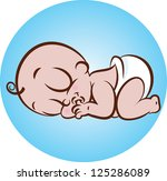 vector illustration of a cute... | Shutterstock .eps vector #125286089