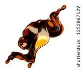 splash of brown transparent... | Shutterstock . vector #1252867129