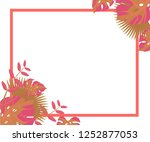 background tropical leaves... | Shutterstock .eps vector #1252877053