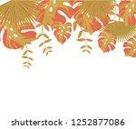 background tropical leaves... | Shutterstock .eps vector #1252877086