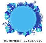 background tropical leaves... | Shutterstock .eps vector #1252877110