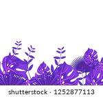 background tropical leaves... | Shutterstock .eps vector #1252877113