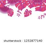 background tropical leaves... | Shutterstock .eps vector #1252877140
