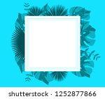flower frame monstera ufo green ... | Shutterstock .eps vector #1252877866