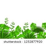 flower frame monstera ufo green ... | Shutterstock .eps vector #1252877920