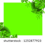flower frame monstera ufo green ... | Shutterstock .eps vector #1252877923