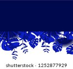 flower frame monstera ufo green ... | Shutterstock .eps vector #1252877929