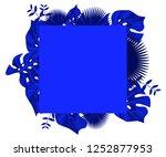 flower frame monstera ufo green ... | Shutterstock .eps vector #1252877953