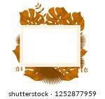 flower frame monstera ufo green ... | Shutterstock .eps vector #1252877959