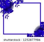 flower frame monstera ufo green ... | Shutterstock .eps vector #1252877986