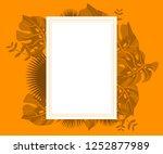 flower frame monstera ufo green ... | Shutterstock .eps vector #1252877989