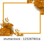 flower frame monstera ufo green ... | Shutterstock .eps vector #1252878016