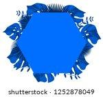 flower frame monstera ufo green ... | Shutterstock .eps vector #1252878049