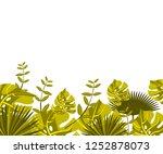 flower frame monstera ufo green ... | Shutterstock .eps vector #1252878073