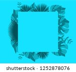 flower frame monstera ufo green ... | Shutterstock .eps vector #1252878076