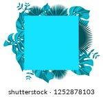 flower frame monstera ufo green ... | Shutterstock .eps vector #1252878103